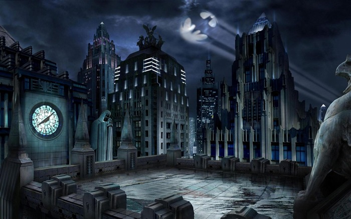 Gotham City-Urban Landscape Wallpaper Views:58346