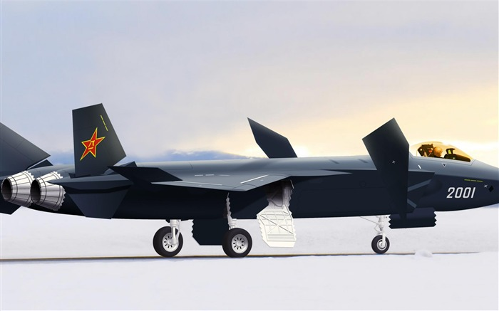 J20 stealth fighter Aircraft china-Military aircraft wallpaper Views:26716