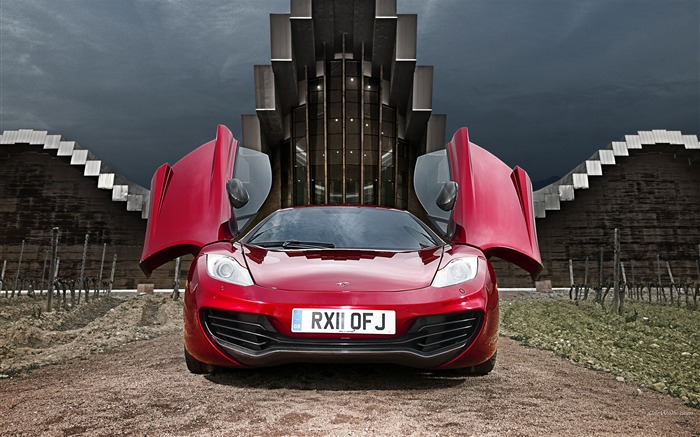 McLaren MP4-12C Wine Red Auto HD Wallpapers Views:11163
