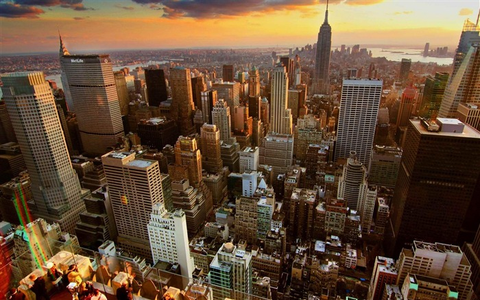 New york sunset-Urban Landscape Wallpaper Views:9851