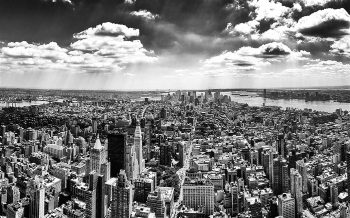 Panorama of Manhattan -Urban Landscape Wallpaper Views:9753