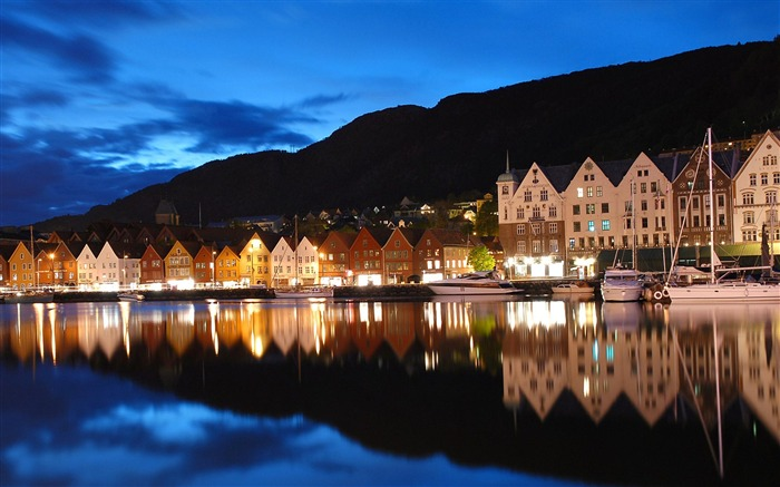 Seaside Town Norway travel-Urban Landscape Wallpaper Views:10178