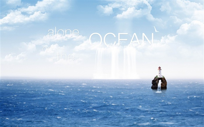 alone on the ocean-Creative Design Wallpapers Views:5251