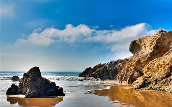 American beach scenery wallpaper Views:11912