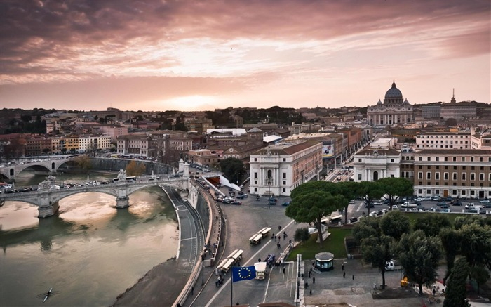 panorama of rome-Urban Landscape Wallpaper Views:7631