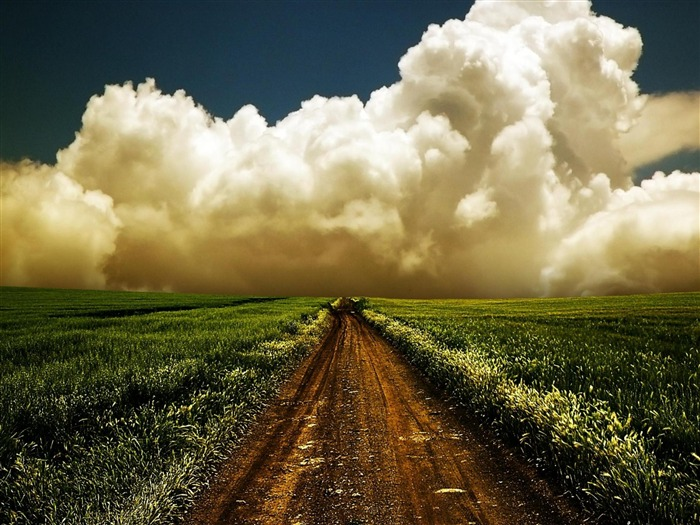 path in the sky-world beautiful scenery wallpaper Views:14280
