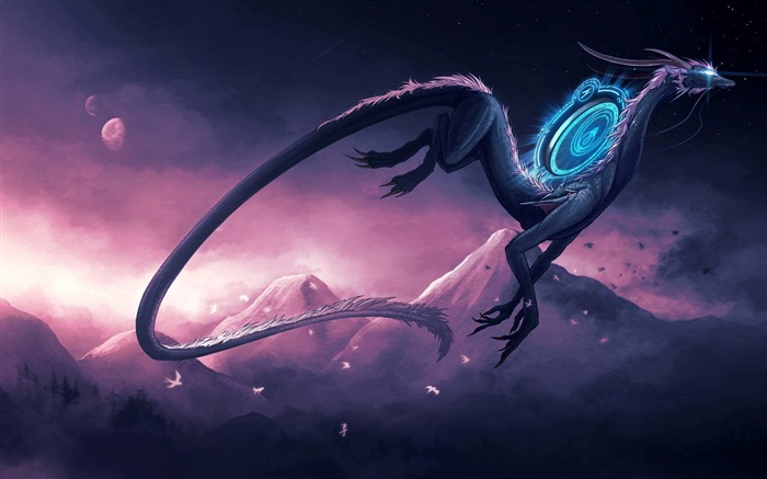 Dragon theme artistic design HD wallpaper Views:23723