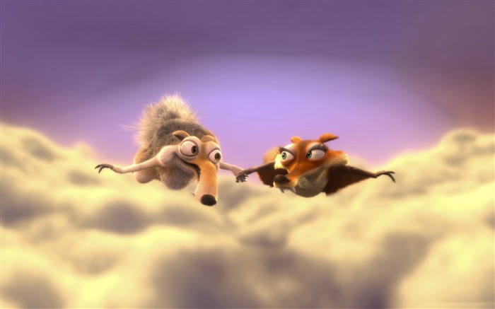 scrat and scratte-Ice Age Movie HD wallpaper Views:16558 Date:4/19/2012 11:05:22 PM