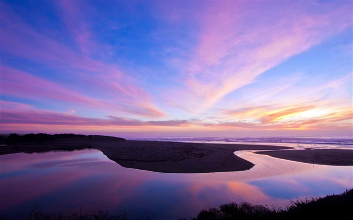 A nice winter Bodega Bay Sunset-Landscape photography wallpaper Views:5791