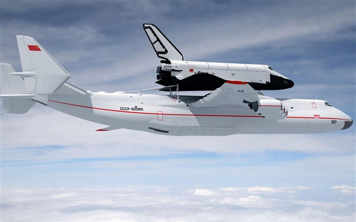Antonov 225 Space Shuttle-Military aircraft HD wallpaper Views:20976