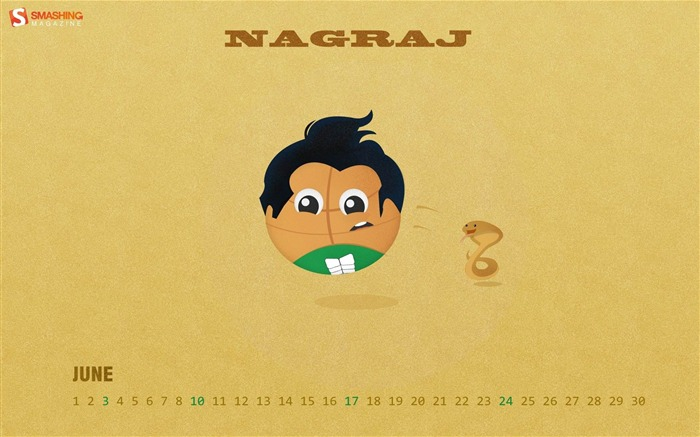 Basketball Nagraj-June 2012 calendar wallpaper Views:4152