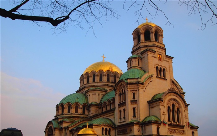 Bulgaria Sofia Alexander Nevsky Cathedral-city architecture wallpaper Views:6483