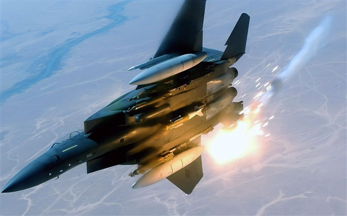 F 15 Eagle Fighter-Military aircraft HD wallpaper Views:10942