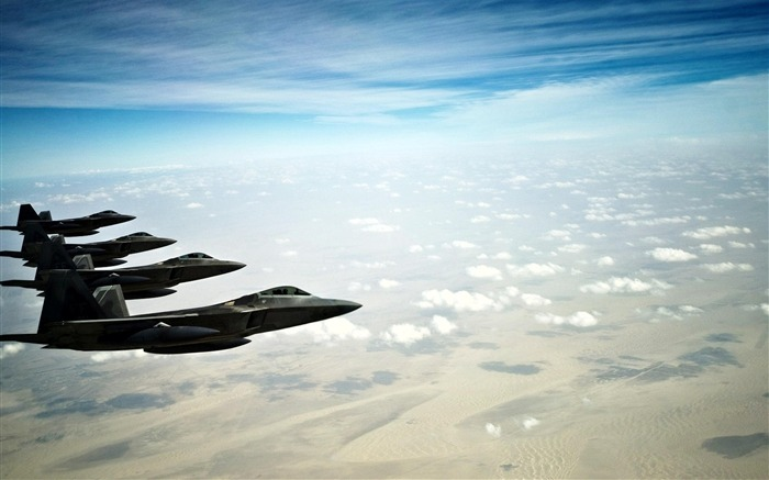 F 22 raptor stealth fighters-Military aircraft wallpaper Views:6917