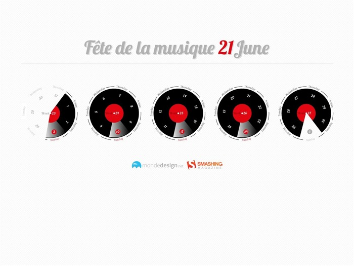 Fete De La Musique-June 2012 calendar wallpaper Views:3670