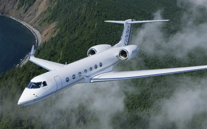 Gulfstream G500 White Flight-Military aircraft HD wallpaper Views:5782