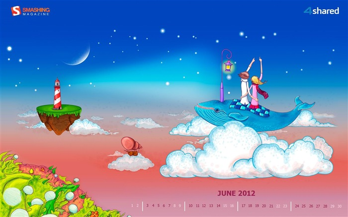 June Romance-June 2012 calendar wallpaper Views:3220