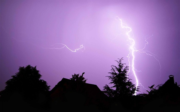 Lightning-Landscape photography wallpaper Views:5022