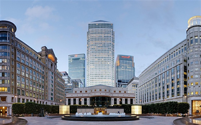 London Canary Wharf-city architecture wallpaper Views:7732