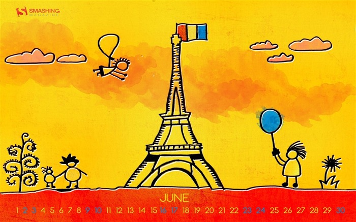 Paris Summer-June 2012 calendar wallpaper Views:3038