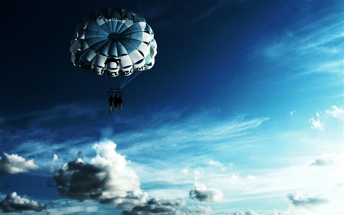 Sky Parachuting-Outdoor sports wallpaper Views:11058 Date:5/26/2012 9:03:46 PM