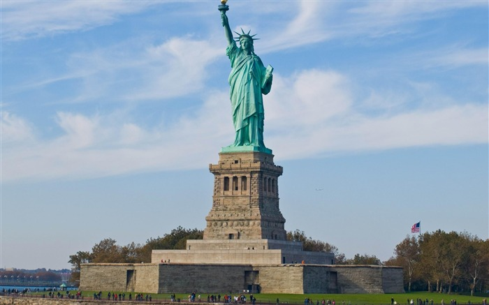 Statue of Liberty New york-city architecture wallpaper Views:17784