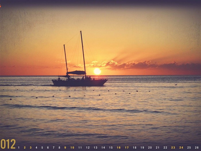 Sunset In Jamaica-June 2012 calendar wallpaper Views:3805
