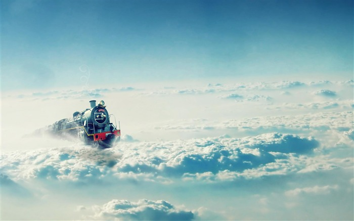 Train On The Clouds-High Quality wallpaper Views:7204