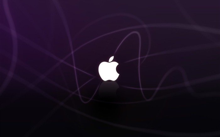 apple logo purple waves-Brand advertising wallpaper Views:5999