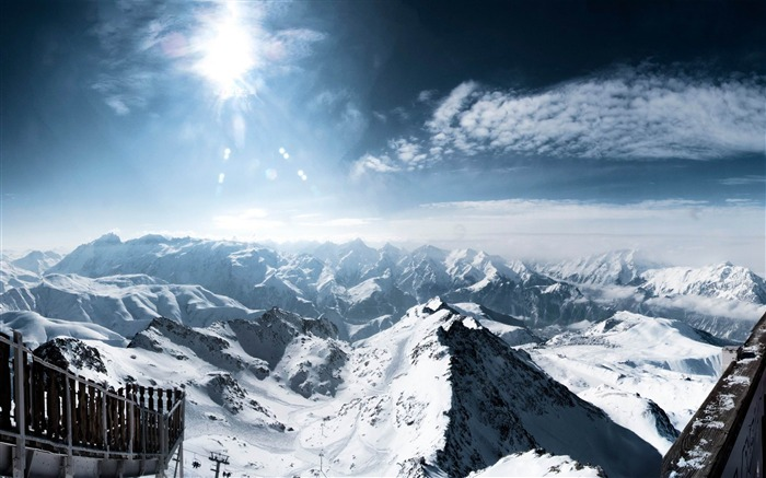 central french alps-Natural landscape wallpaper Views:5773
