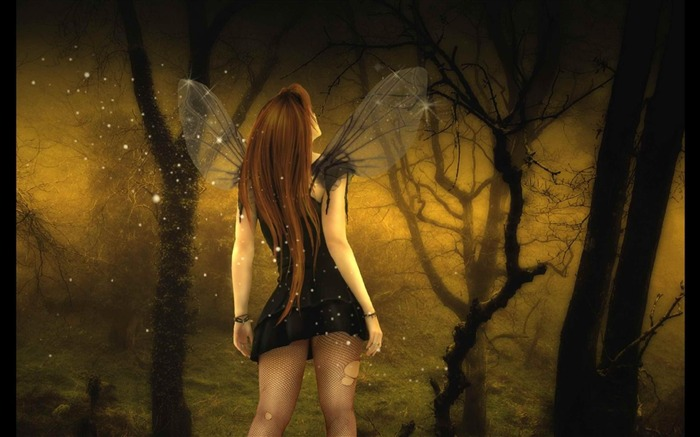 dark fairy-Artistic creation design wallpaper Views:8491 Date:5/6/2012 3:26:01 PM