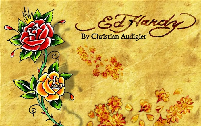 ed hardy rose-Artistic creation design wallpaper Views:24154 Date:5/6/2012 3:27:42 PM