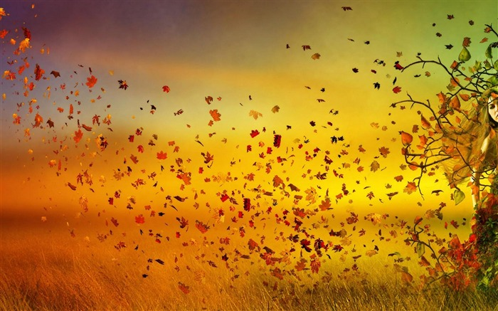 fall girl-Artistic creation design wallpaper Views:10631 Date:5/6/2012 3:29:23 PM