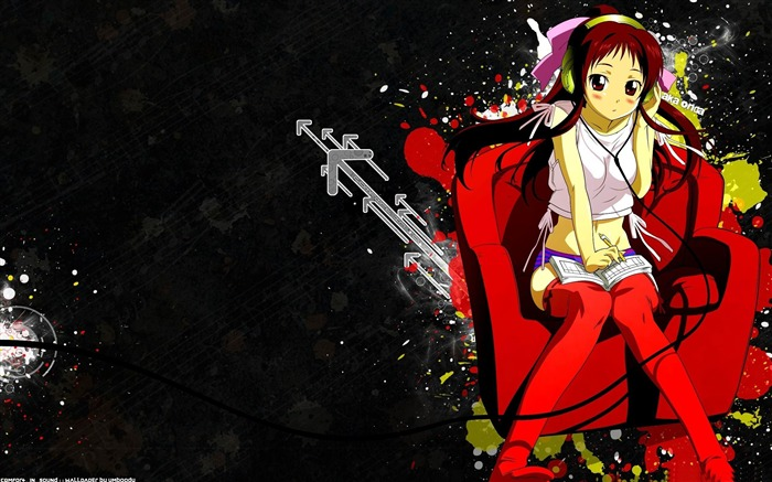 girl listening to music-Cartoon characters wallpaper Views:12067 Date:5/27/2012 11:15:14 PM