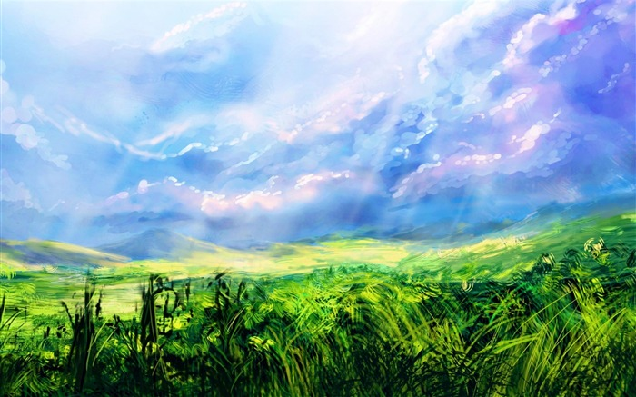 grass field painting-Artistic creation design wallpaper Views:11390 Date:5/6/2012 3:32:11 PM