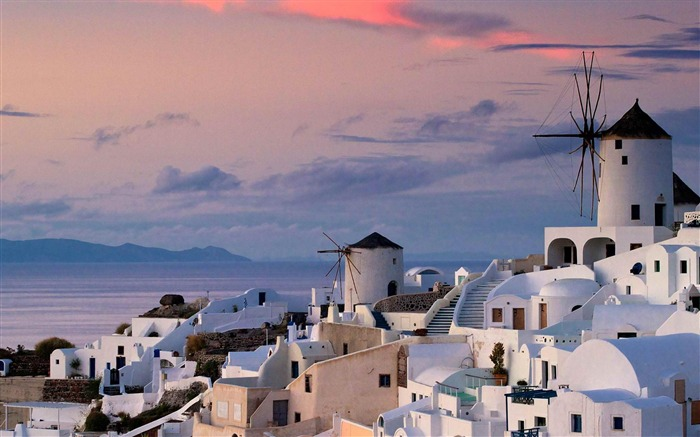 island village of Oia Greece-Landscape photography wallpaper Views:10765