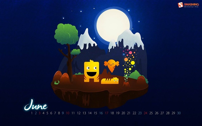 magic night-June 2012 calendar wallpaper Views:3339
