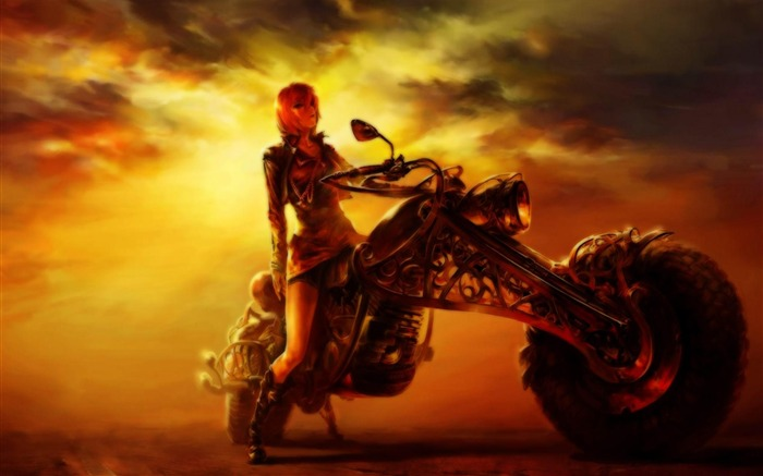 motorbike fantasy-Cartoon characters wallpaper Views:8612