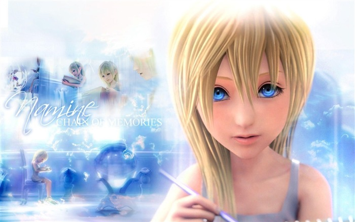namine kingdom hearts-Cartoon characters wallpaper Views:29745