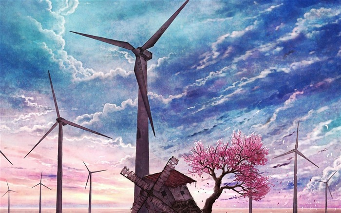 old windmill-Artistic creation design wallpaper Views:6598 Date:5/6/2012 3:34:31 PM