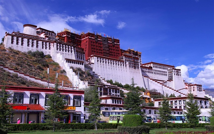 potala palace lhasa tibet-city architecture wallpaper Views:22352