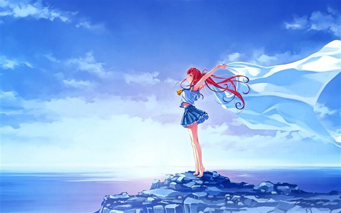 sea breeze-Cartoon characters wallpaper Views:6735