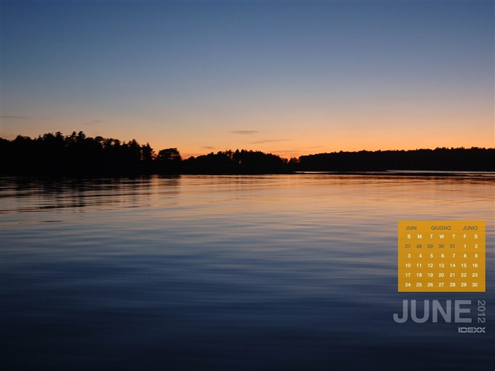 silent lake-June 2012 calendar wallpaper Views:2508