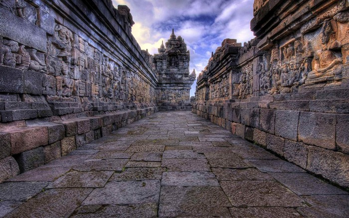 temple reliefs-city architecture wallpaper Views:5593