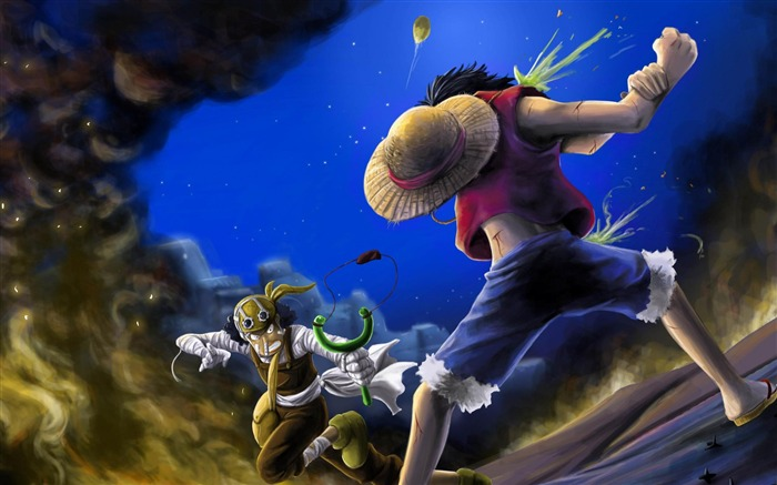 usopp luffy-Cartoon characters wallpaper Views:15351
