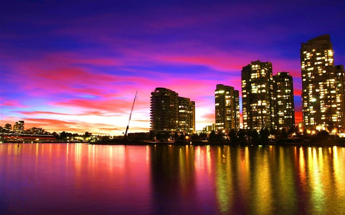 vancouver sunset canada-City Travel wallpaper Views:5193 Date:5/24/2012 11:20:59 PM