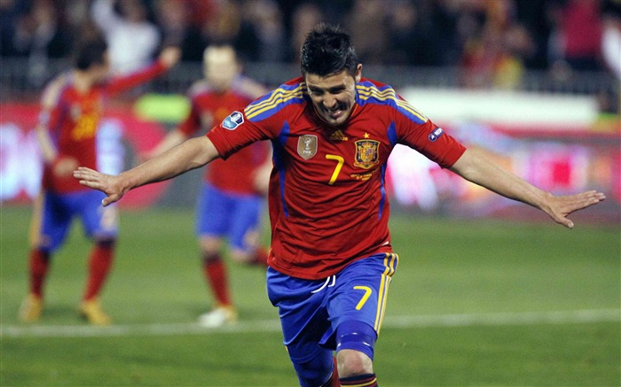 David Villa For Spain-Euro 2012 wallpaper Views:9754
