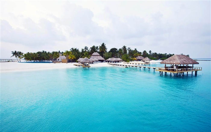 Vacation paradise-Maldives beach scenery wallpaper Views:14155