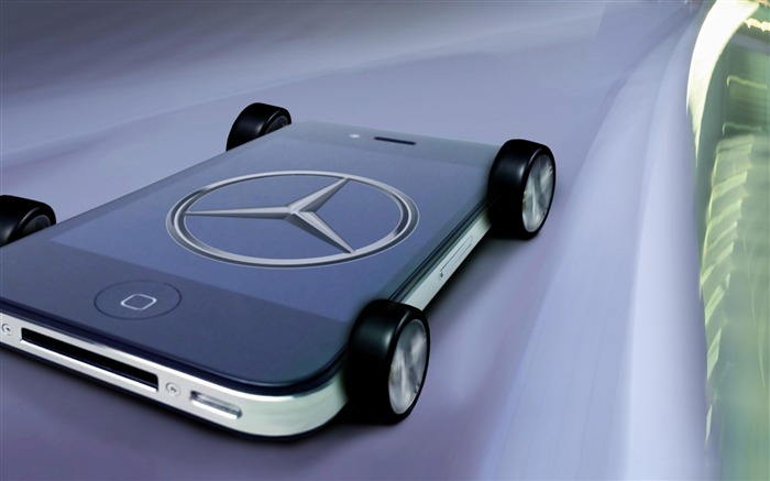 Mercedes-Benz iphone-Brand advertising wallpaper Views:9515