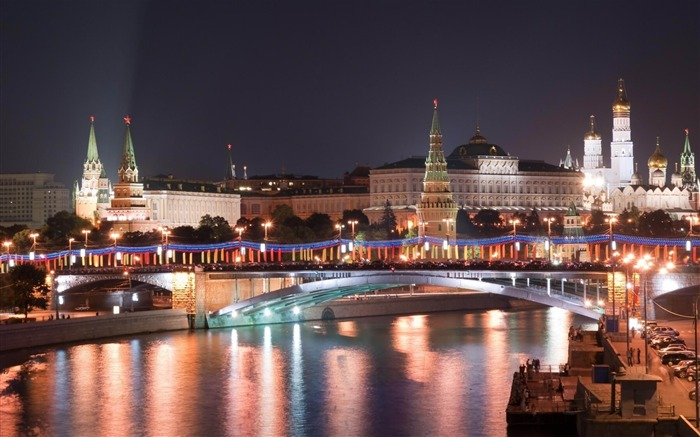 Night Moscow Russia-city photography wallpaper Views:14433 Date:6/17/2012 2:29:17 PM